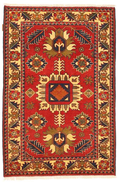 Kazak Vloerkleed 101X158 Echt Oosters Handgeknoopt Roestkleur/Donkerbruin (Wol, Pakistan)