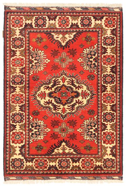Kazak Rug 102X148 Authentic  Oriental Handknotted Rust Red/Dark Brown (Wool, Pakistan)