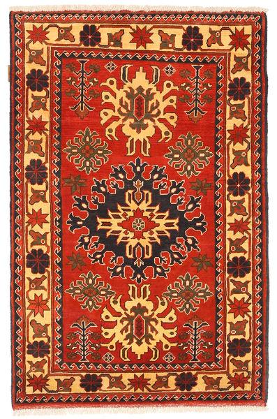 Kazak Matto 98X151 Itämainen Käsinsolmittu Ruoste/Oranssi (Villa, Pakistan)