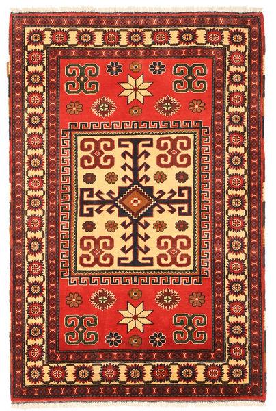 Kazak Vloerkleed 103X160 Echt Oosters Handgeknoopt Donkerrood/Rood (Wol, Pakistan)