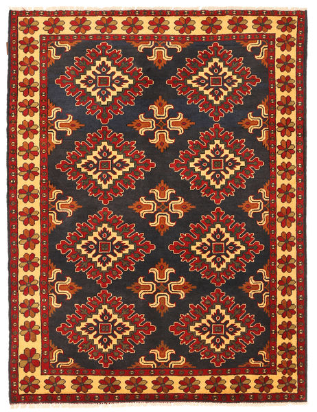 Kazak Rug 150X202 Authentic  Oriental Handknotted Rust Red/Black (Wool, Pakistan)
