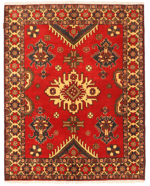 Kazak Rug 153X193 Authentic  Oriental Handknotted Rust Red/Dark Brown (Wool, Pakistan)