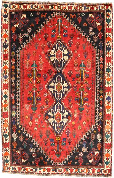 Ghashghai Matto 163X252 Itämainen Käsinsolmittu Oranssi/Musta (Villa, Persia/Iran)
