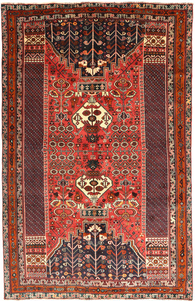 Ghashghai Matto 160X251 Itämainen Käsinsolmittu Tummanruskea/Ruskea (Villa, Persia/Iran)