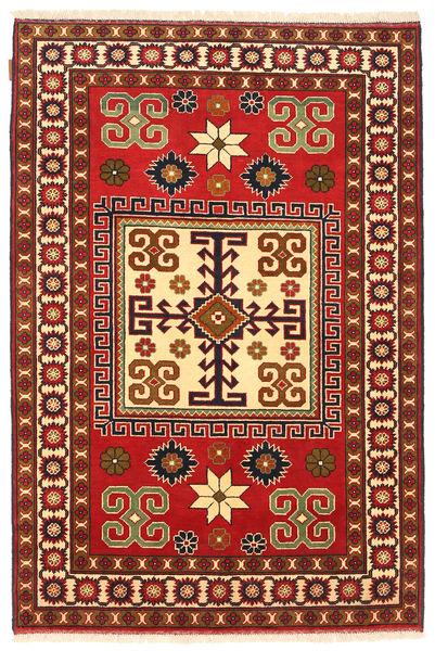 Kazak Vloerkleed 123X188 Echt Oosters Handgeknoopt Donkerrood/Roestkleur (Wol, Pakistan)