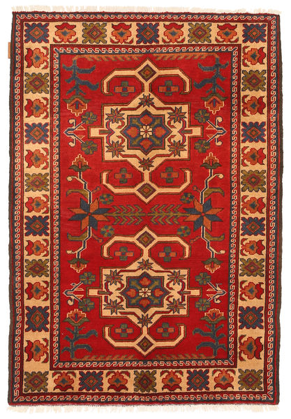 Kazak Rug 101X150 Authentic  Oriental Handknotted Rust Red/Dark Brown (Wool, Pakistan)