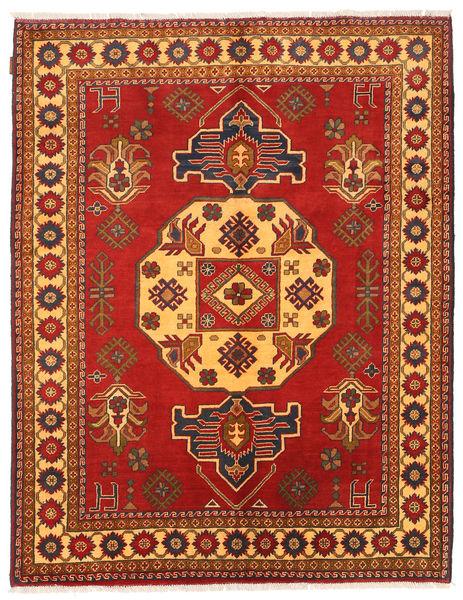 Kazak Rug 155X198 Authentic  Oriental Handknotted Rust Red/Orange (Wool, Pakistan)