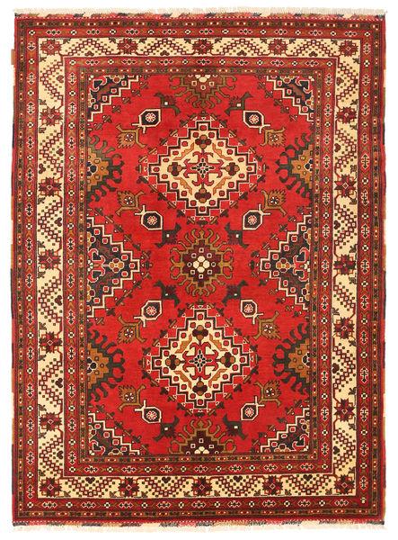 Kazak Matto 152X207 Itämainen Käsinsolmittu Tummanpunainen/Ruoste (Villa, Pakistan)