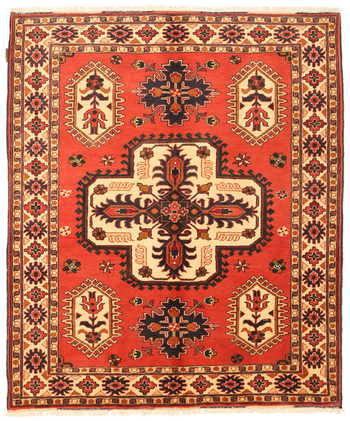 Kazak Rug 158X189 Authentic  Oriental Handknotted Orange/Dark Brown (Wool, Pakistan)