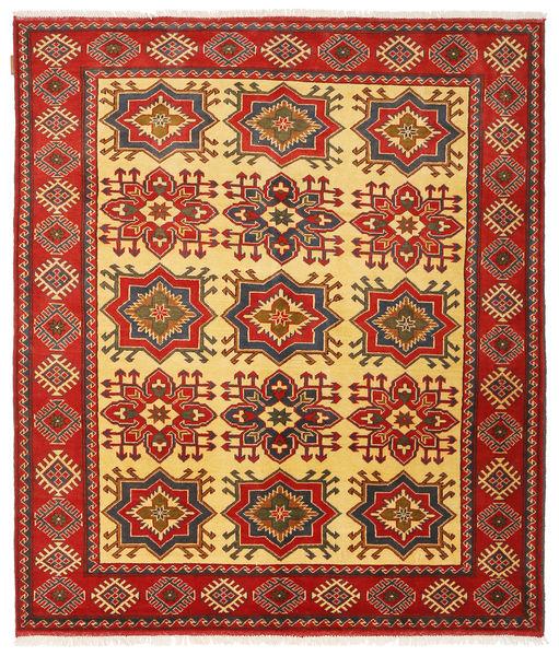 Kazak Tappeto 168X198 Orientale Fatto A Mano Ruggine/Rosso/Marrone Scuro (Lana, Pakistan)