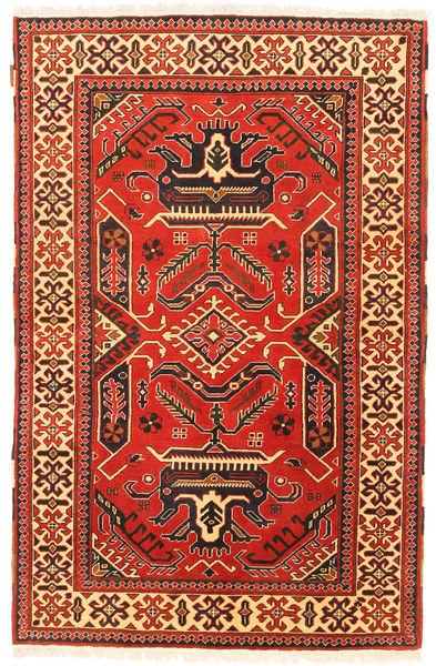 Kazak Matto 117X186 Itämainen Käsinsolmittu Ruoste/Vaaleanruskea (Villa, Pakistan)