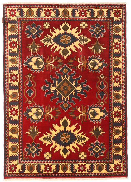 Kazak Rug 146X207 Authentic  Oriental Handknotted Rust Red/Dark Brown (Wool, Pakistan)