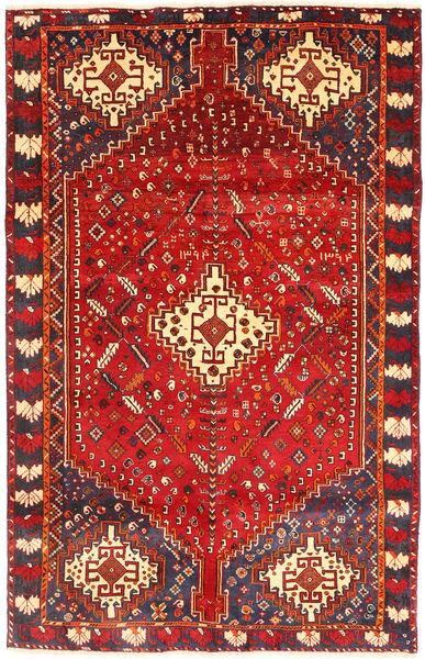 Kaszkaj Dywan 162X255 Orientalny Tkany Ręcznie Ciemnoczerwony/Rdzawy/Czerwony (Wełna, Persja/Iran)