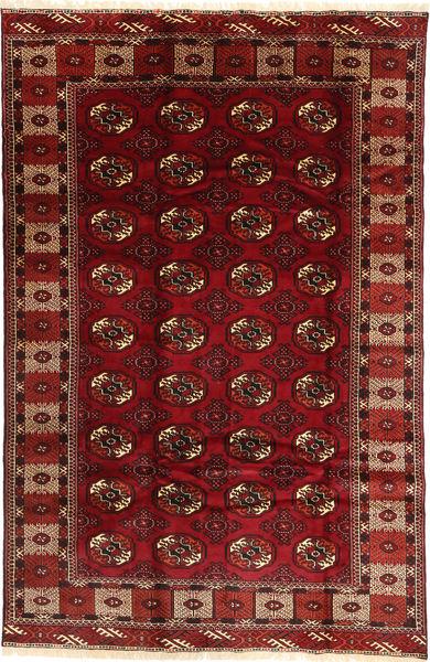 Turkaman Matta 187X290 Äkta Orientalisk Handknuten Mörkröd/Mörkbrun (Ull, Persien/Iran)
