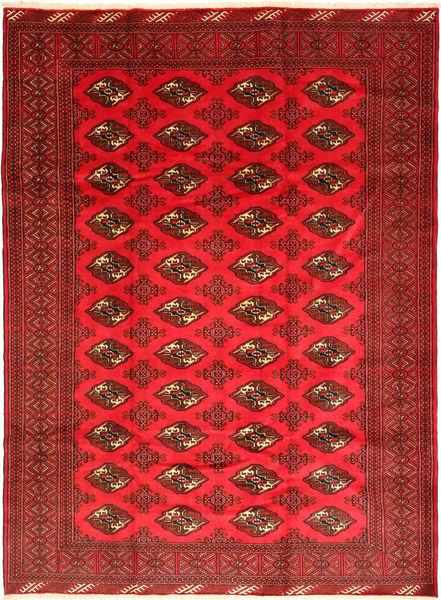 Turkaman Rug 206X281 Authentic  Oriental Handknotted Dark Red/Crimson Red (Wool, Persia/Iran)