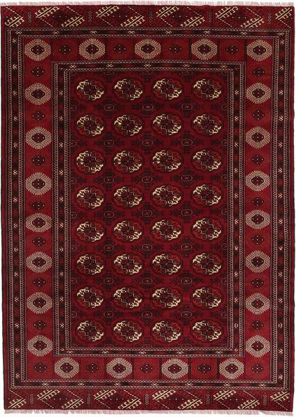 Turkaman Vloerkleed 208X287 Echt Oosters Handgeknoopt Donkerrood/Donkerbruin (Wol, Perzië/Iran)