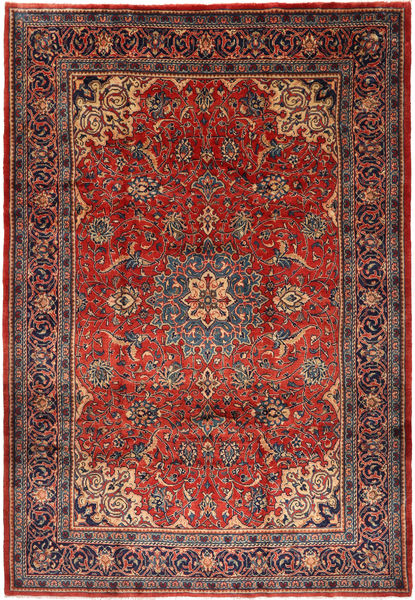 Mahal Rug 214X309 Authentic  Oriental Handknotted Brown/Rust Red (Wool, Persia/Iran)