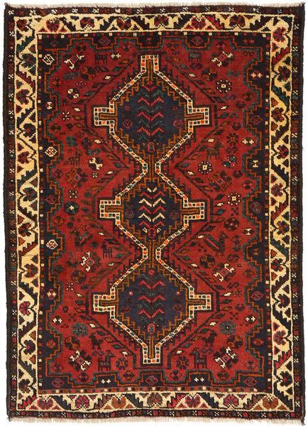 Ghashghai Matto 114X159 Itämainen Käsinsolmittu Tummanruskea/Ruoste (Villa, Persia/Iran)