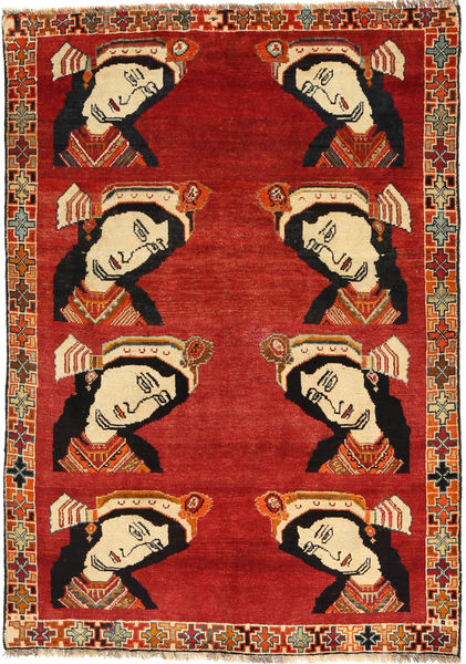 Qashqai Rug 121X176 Authentic  Oriental Handknotted Rust Red/Dark Brown (Wool, Persia/Iran)