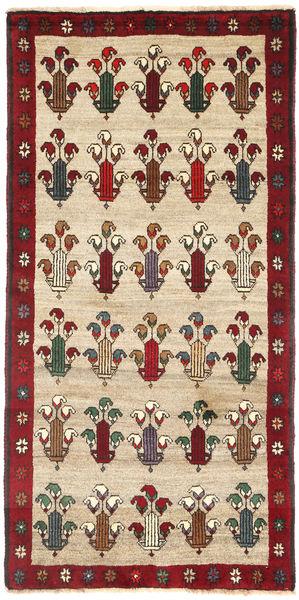 Ghashghai Matto 88X184 Itämainen Käsinsolmittu Vaaleanruskea/Beige (Villa, Persia/Iran)