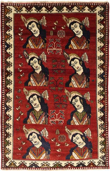 Ghashghai Matto 138X215 Itämainen Käsinsolmittu Ruoste/Tummanpunainen (Villa, Persia/Iran)