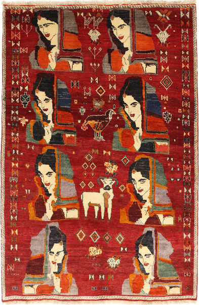 Qashqai Rug 143X218 Authentic  Oriental Handknotted Rust Red/Dark Brown (Wool, Persia/Iran)
