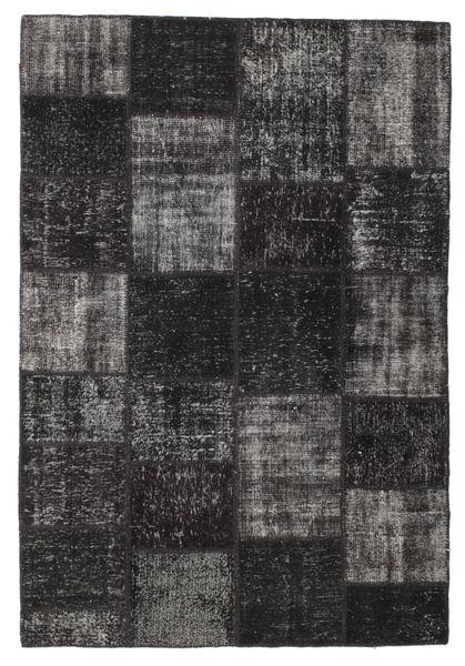 Patchwork Rug 158X232 Authentic  Modern Handknotted Black/Dark Brown (Wool, Turkey)