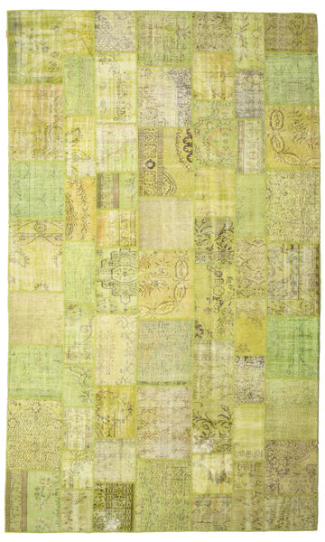 Patchwork Rug 300X502 Authentic  Modern Handknotted Yellow/Olive Green Large (Wool, Turkey)
