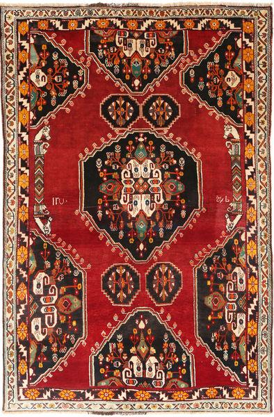 Kaszkaj Dywan 165X250 Orientalny Tkany Ręcznie Ciemnobrązowy/Rdzawy/Czerwony (Wełna, Persja/Iran)