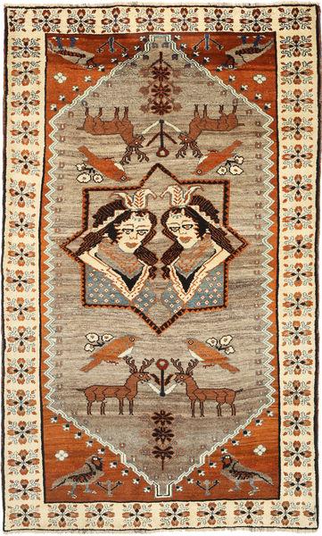Ghashghai Tapete 144X238 Oriental Feito A Mão Castanho/Castanho Claro (Lã, Pérsia/Irão)