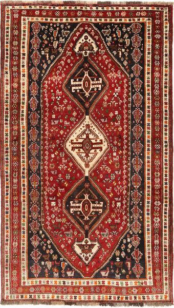 Ghashghai Matto 154X270 Itämainen Käsinsolmittu Tummanpunainen/Vaaleanruskea (Villa, Persia/Iran)