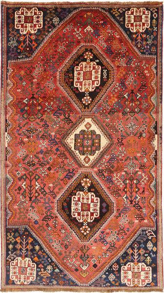 Ghashghai Matto 158X278 Itämainen Käsinsolmittu Tummanpunainen/Oranssi (Villa, Persia/Iran)