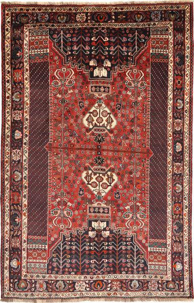 Kaszkaj Dywan 183X280 Orientalny Tkany Ręcznie Ciemnoczerwony/Brązowy (Wełna, Persja/Iran)