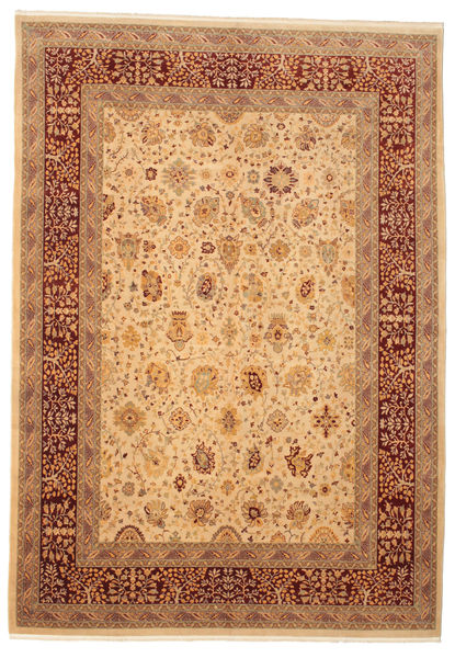 Oushak Rug 275X390 Authentic  Oriental Handknotted Light Brown/Dark Red Large (Wool, Turkey)