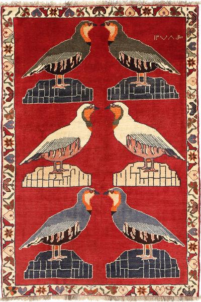 Kaszkaj Dywan 110X165 Orientalny Tkany Ręcznie Rdzawy/Czerwony/Ciemnobrązowy (Wełna, Persja/Iran)