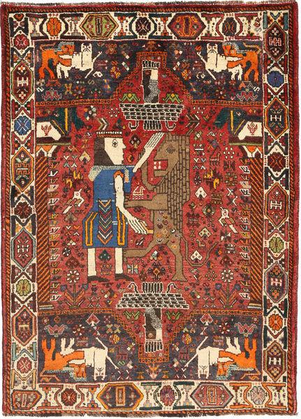 Ghashghai Matta 111X157 Äkta Orientalisk Handknuten Mörkröd/Mörkbrun (Ull, Persien/Iran)