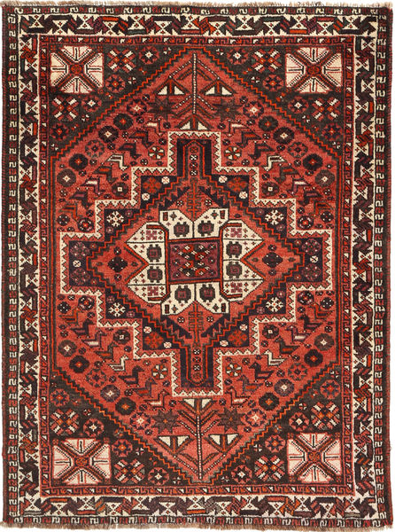 Qashqai Rug 115X156 Authentic  Oriental Handknotted Dark Red/Rust Red (Wool, Persia/Iran)