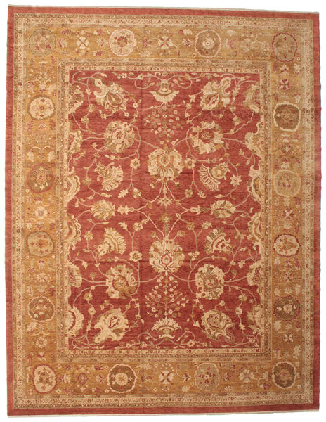 Oushak Rug 382X493 Authentic  Oriental Handknotted Light Brown/Rust Red Large (Wool, Turkey)