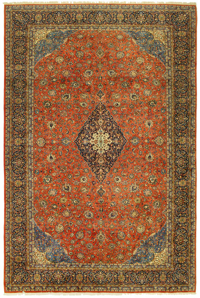 Sarouk Old Rug 404X600 Authentic  Oriental Handknotted Light Brown/Brown Large (Wool, Persia/Iran)