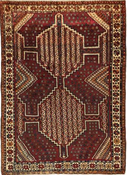 Ghashghai Matto 119X167 Itämainen Käsinsolmittu Tummanpunainen/Vaaleanruskea (Villa, Persia/Iran)