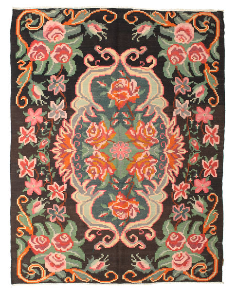 Rose Kelim Moldavia Rug 195X250 Authentic  Oriental Handwoven Dark Grey/Light Pink (Wool, Moldova)