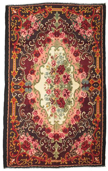 Rose Kelim Moldavia Rug 244X390 Authentic  Oriental Handwoven Black/Dark Red (Wool, Moldova)