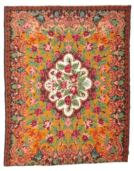薔薇 キリム Moldavia 絨毯 214X276 オリエンタル 手織り オレンジ/錆色 (ウール, モルドバ)