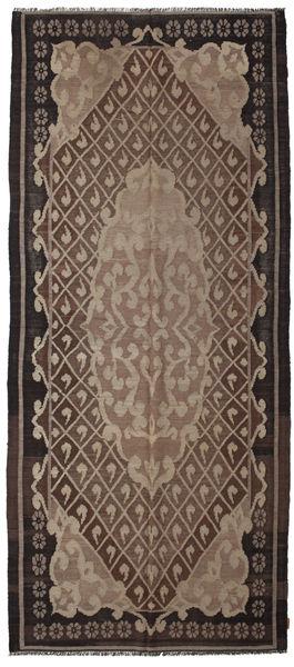 Rose Kelim Moldavia Rug 164X382 Authentic  Oriental Handwoven Hallway Runner  Dark Brown/Light Grey/Brown (Wool, Moldova)