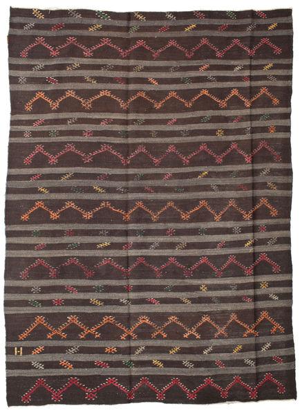 Kilim semi antique Turkish carpet XCGZF1318