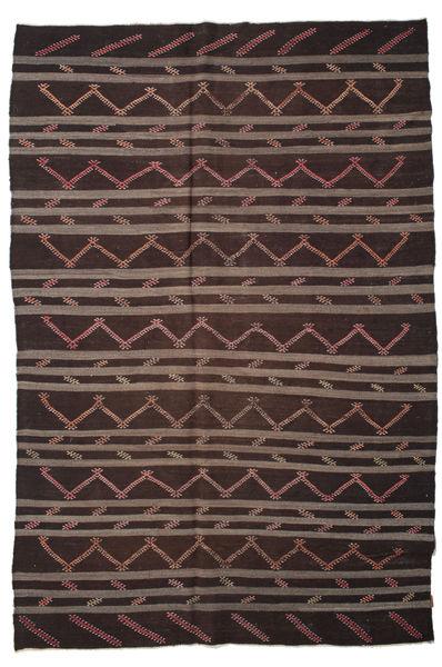 Kilim Pół -Antyk Tureckie Dywan 233X340 Orientalny Tkany Ręcznie Czarny/Ciemnobrązowy (Wełna, Turcja)