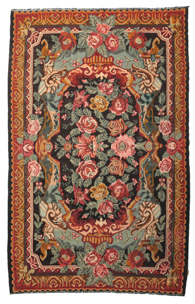 Rose Kelim Moldavia Rug 215X345 Authentic  Oriental Handwoven Olive Green/Black (Wool, Moldova)