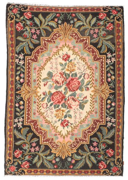 Kilim Rose Moldavia Dywan 201X297 Orientalny Tkany Ręcznie Ciemnoszary/Jasnobrązowy (Wełna, Mołdawia)