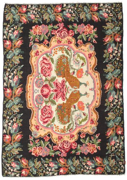 Kilim Rose Moldavia Dywan 205X290 Orientalny Tkany Ręcznie Czarny/Zielony/Oliwkowy (Wełna, Mołdawia)