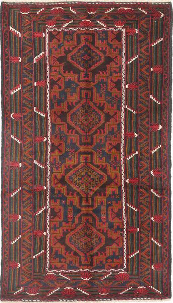 Beluch Covor 111X195 Orientale Lucrat Manual Roșu-Închis/Negru (Lână, Afganistan)